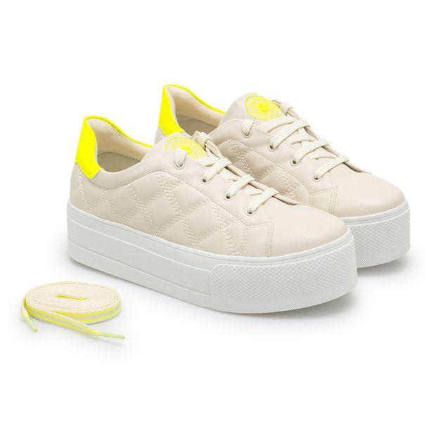 Tenis-Napa-Pele-Nude-Porcelana-e-Amarelo-Neon