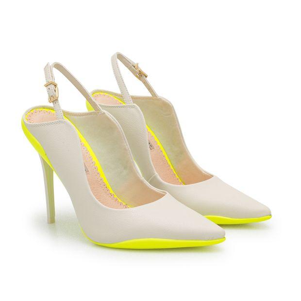 Scarpin-Napa-Pele-Nude-Porcelana-e-Amarelo-Neon