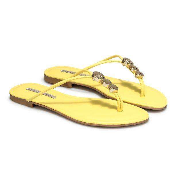 Rasteira-Napa-Dubai-Yellow-Enfeite-Redondo