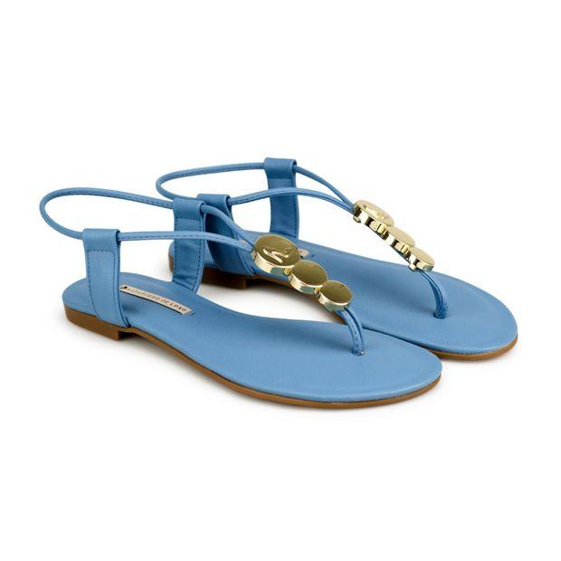 Rasteira-Napa-Naturale-Azul-Jeans-Metal-Redondo