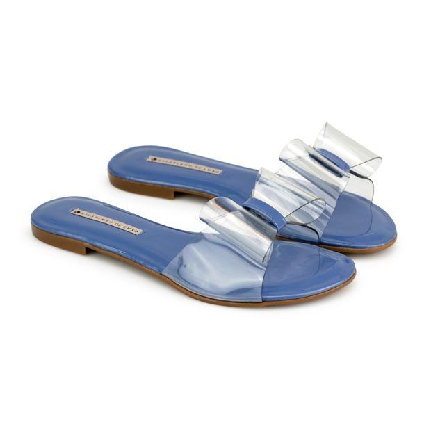 Rasteira-Verniz-Vinil-Azul-Jeans
