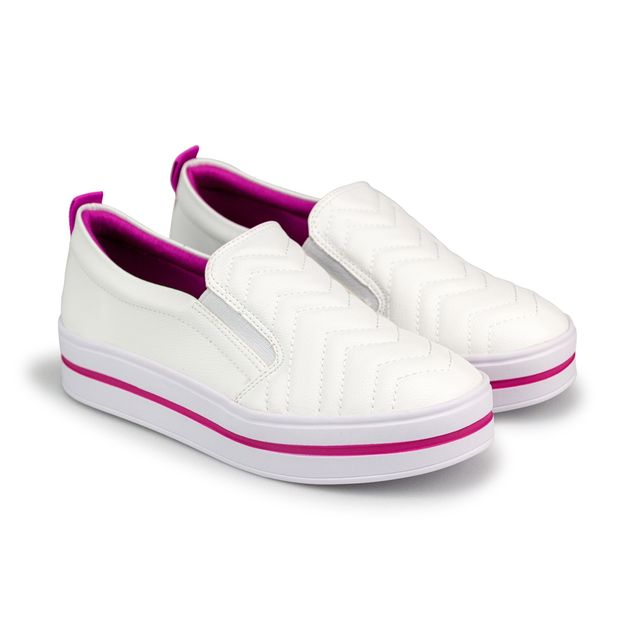 Tenis-New-Slipper-Napa-Naturale-Branco-Fucsia