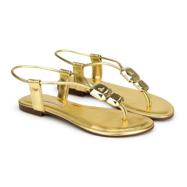 Rasteira-Napa-Floater-Metalizado-Ouro-com-Enfeite