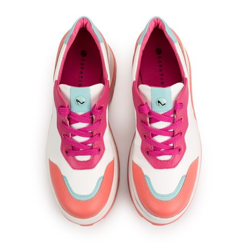 Tenis-Chunky-Napa-Naturale-Branco-Candy-Color-Coral