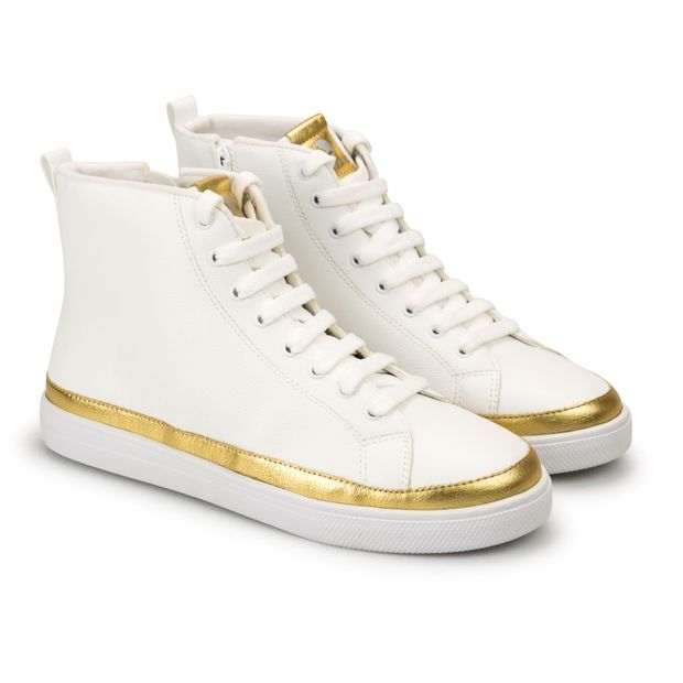 Tenis-Sneaker-Napa-Naturale-Branco-e-Metalizado-Ouro