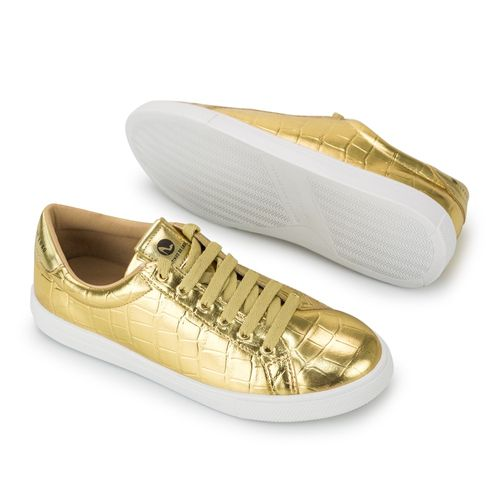 Tenis-Croco-Ouro