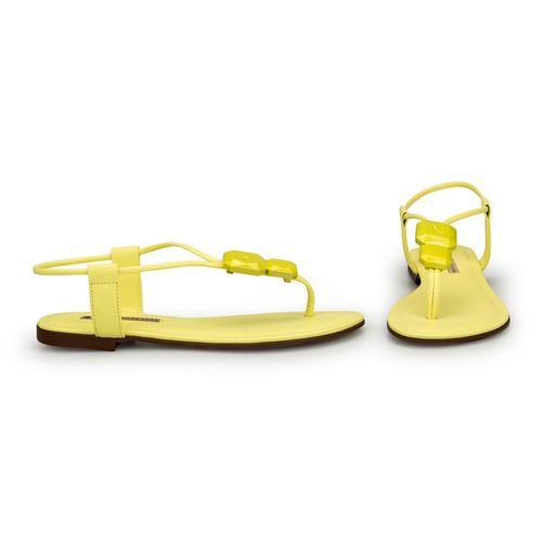 Rasteira-Napa-Tathi-Yellow-Com-Enfeite