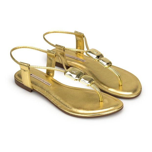 Rasteira-Napa-Tathi-Metalizado-Ouro-Com-Enfeite