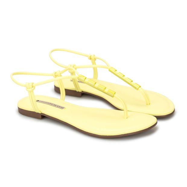 Rasteira-Napa-Tathi-Yellow-Enfeite-Vazado