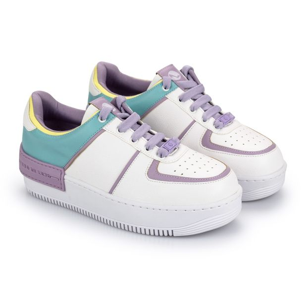 Tenis-Mix-Napa-Naturale-Branco-Mint-Lavanda-Yellow