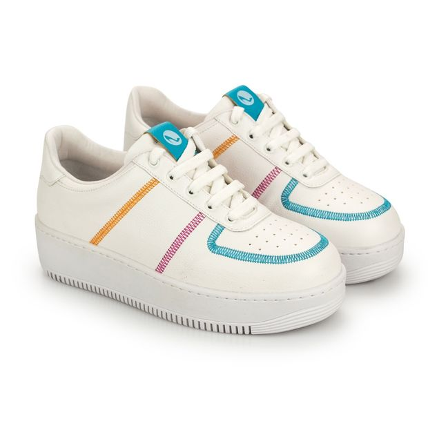 Tenis-Mix-Napa-Pele-Branco-Azul-Celeste-Pink-Laranja