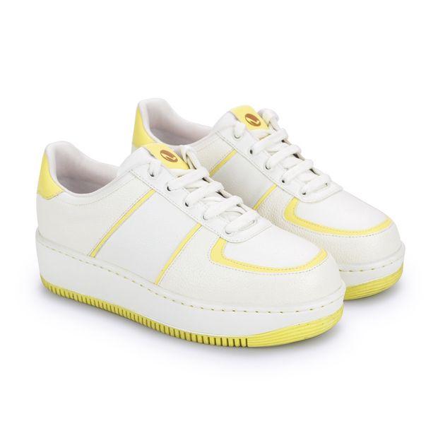 Tenis-Mix-Napa-Pele-Branco-Yellow
