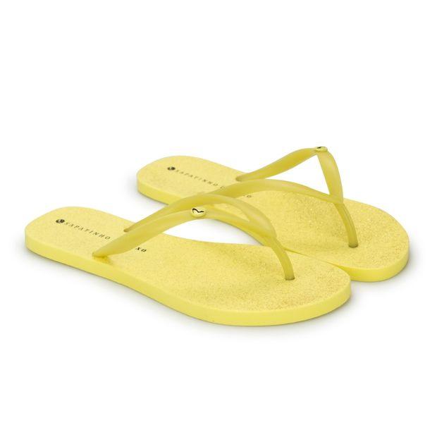 Rasteira-Yellow-Glitter-Enfeite-Ouro