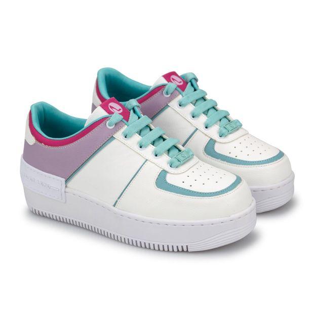 Tenis-Mix-Napa-Naturale-Branco-Lavanda-Mint-Rosa-Neon