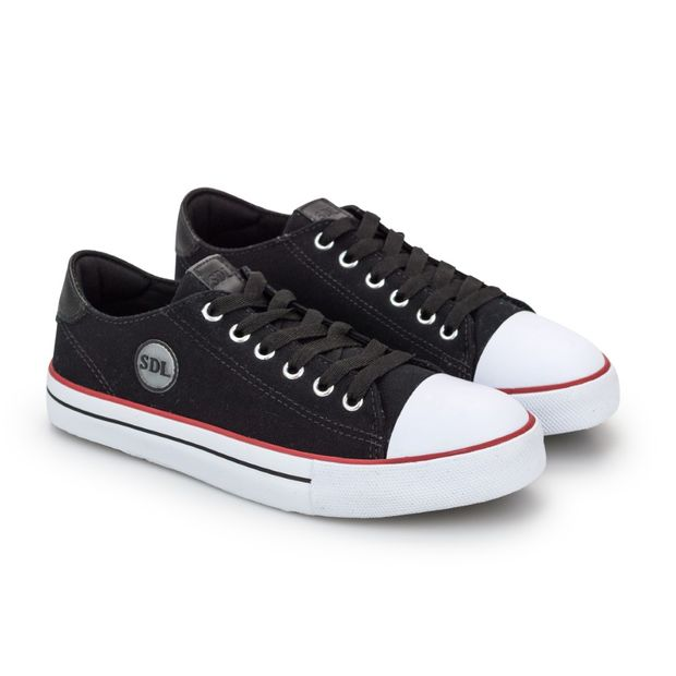 Tenis-Lona-Light-Preto-Vulcanizado-New