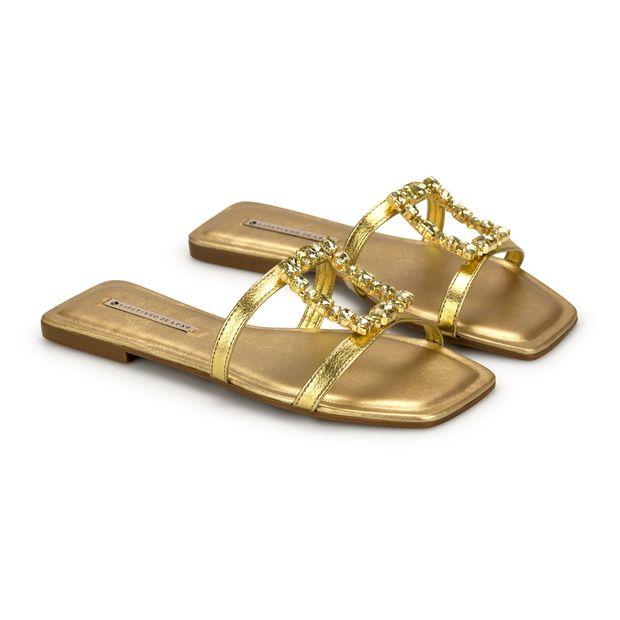 Rasteira-Napa-Floater-Metalizado-Ouro-Enfeite-Pedraria