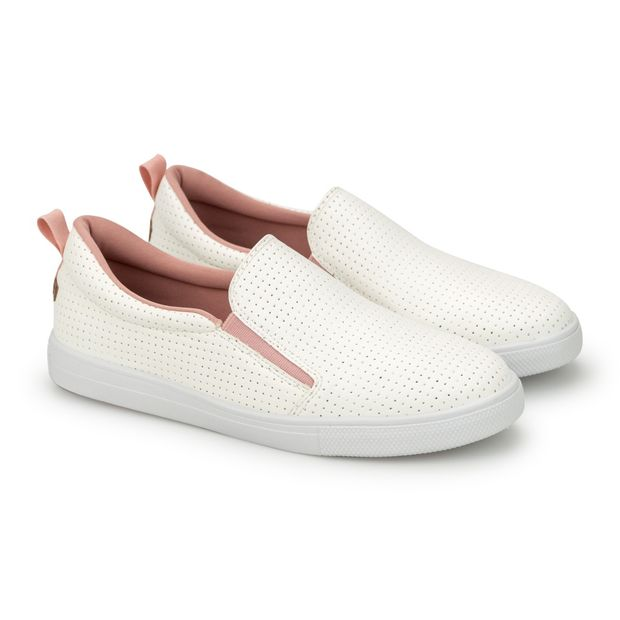 Tenis-Slipper-Napa-Pele-Branco-e-Pink-Mini-Perfuros