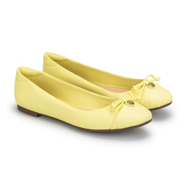 Sapatilha-Napa-Pele-Yellow-Laco-Bico-Redondo