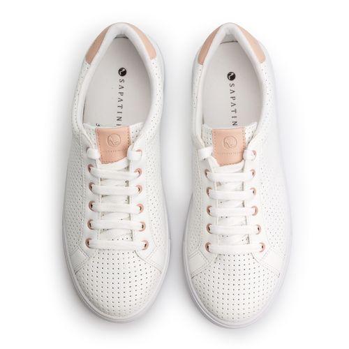 Tenis-Napa-Pele-Branco-Mini-Perfuros-Detalhe-Nude