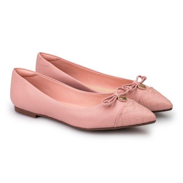 Sapatilha-Napa-Pele-Candy-Pink-Laco-Bico-Fino