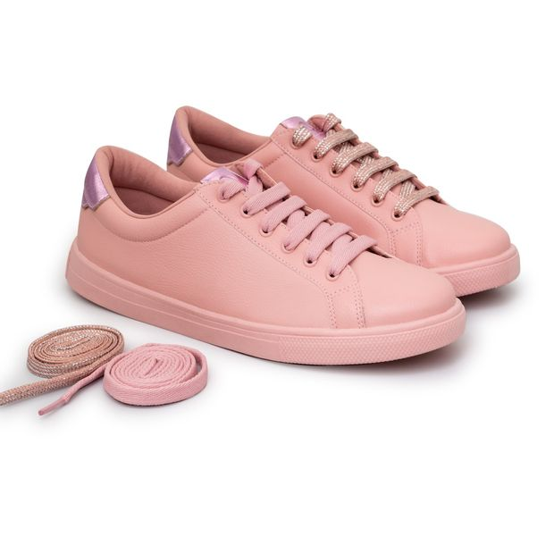 Tenis-Napa-Pele-Candy-Pink-Rose-Casual