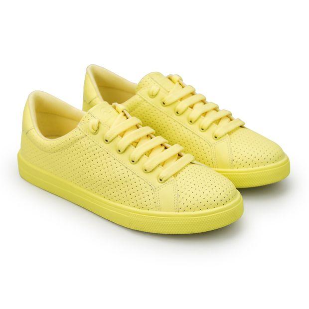 Tenis-Napa-Pele-Yellow-Mini-Perfuros