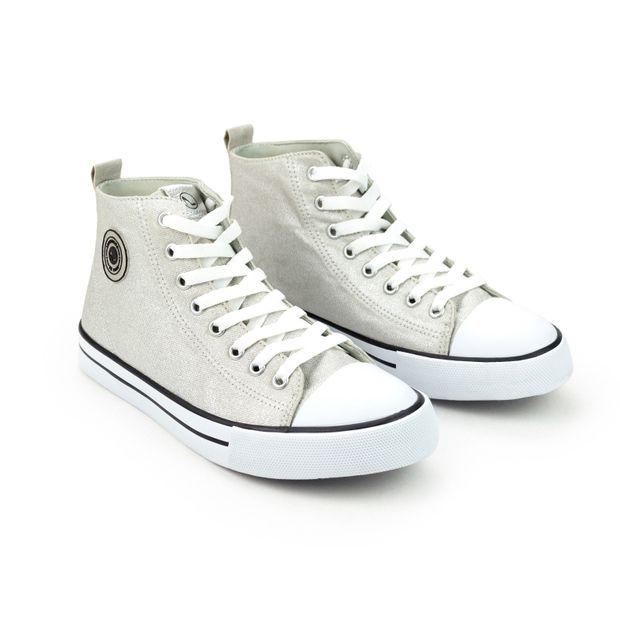 Tenis-Sneaker-Lona-Metalizado-Prata