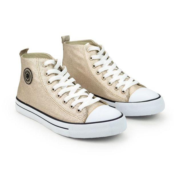 Tenis-Sneaker-Lona-Metalizado-Ouro-Light