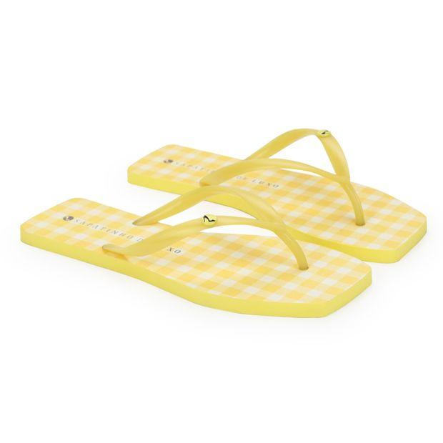 Rasteira-Translucida-Estampa-Xadrez-Amarelo