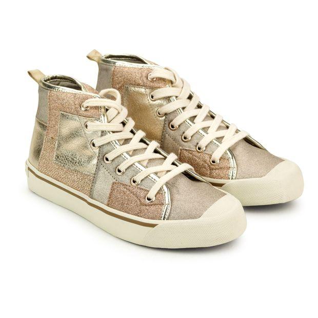 Sneaker-Lona-Metalizada-Ouro-Light