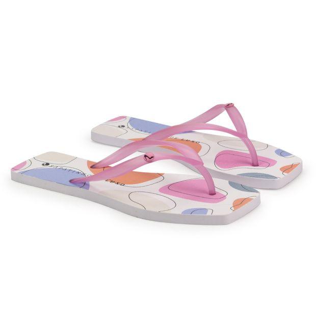 Rasteira-Translucida-Flamingo-Estampa-Artsy-Color