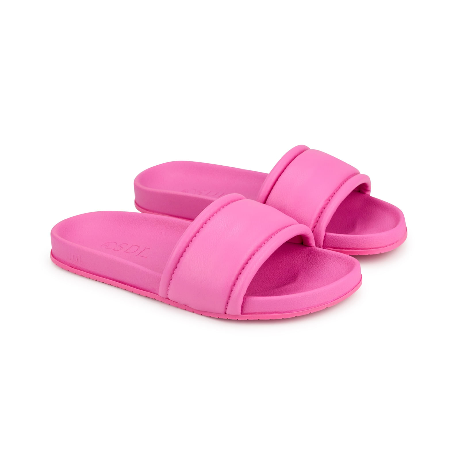 Rasteira Napa Soft Stretch Deep Pink Conforto