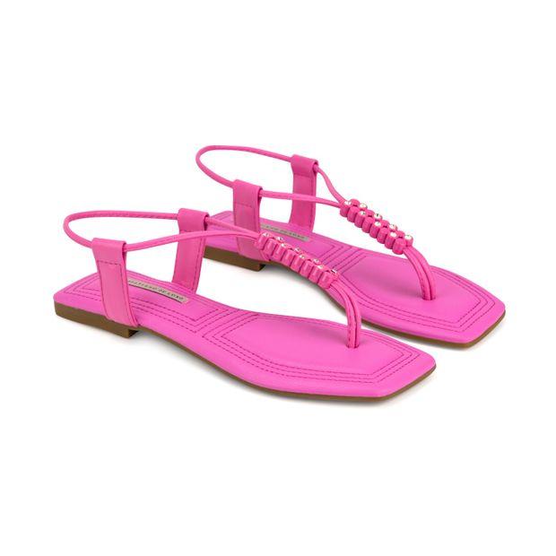 Rasteira-Napa-Soft-Stretch-Deep-Pink-Enfeite-Pontos-de-Luz