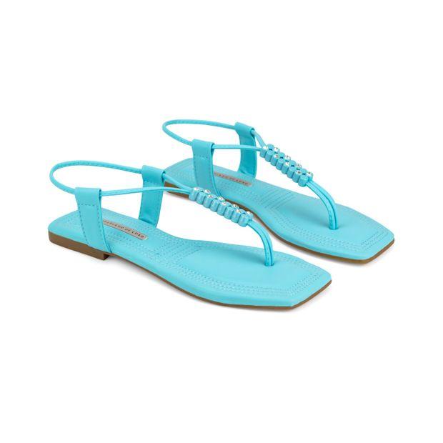 Rasteira-Napa-Soft-Stretch-Azul-Mar-Enfeite-Pontos-de-Luz